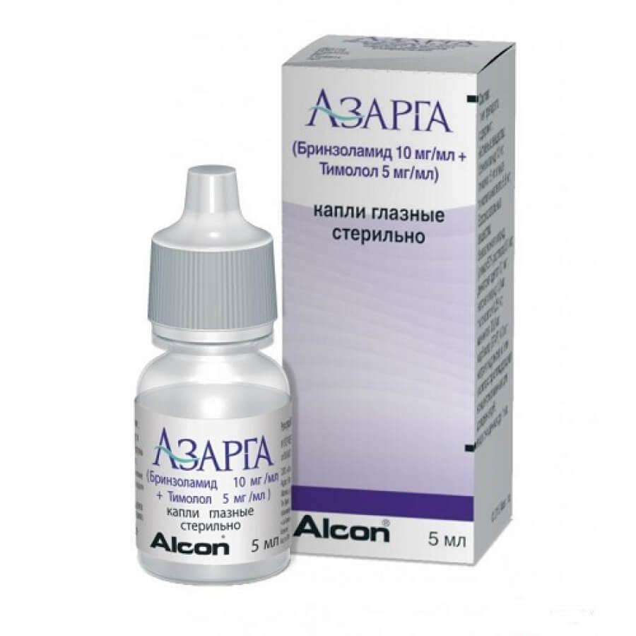 Препарат Азарга: глазные капли для лечения глаукомы и их аналоги