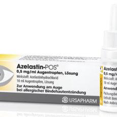 Внешний вид упаковки глазных капель Азеластин производства Германии