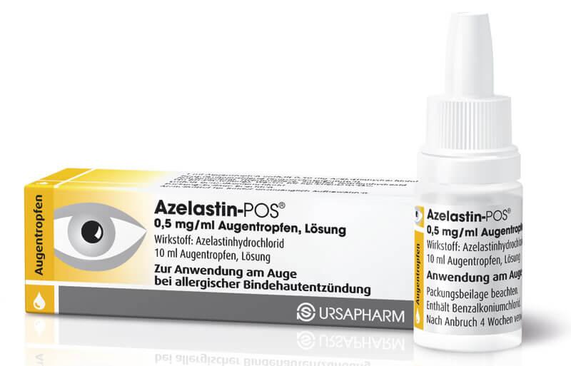 Азеластин: инструкция по применению глазных капель