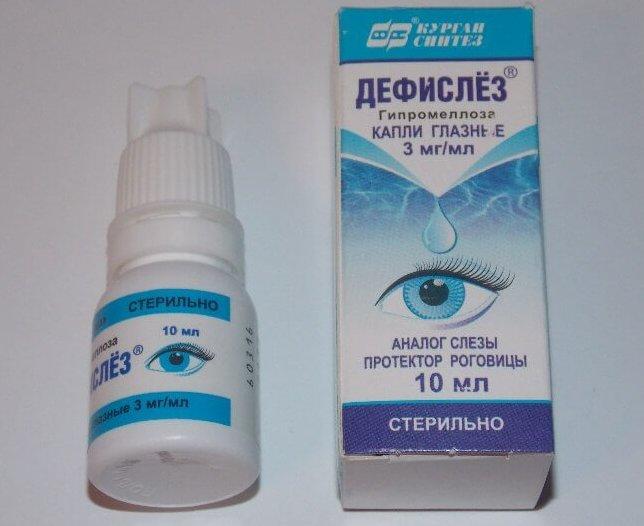 Глазные капли Дефислез: инструкция, особые указания, аналоги