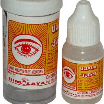 Внешний вид упаковки и флакона глазных капель Уджала
