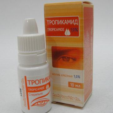 Инструкция по применению глазных капель Тропикамид и особые указания